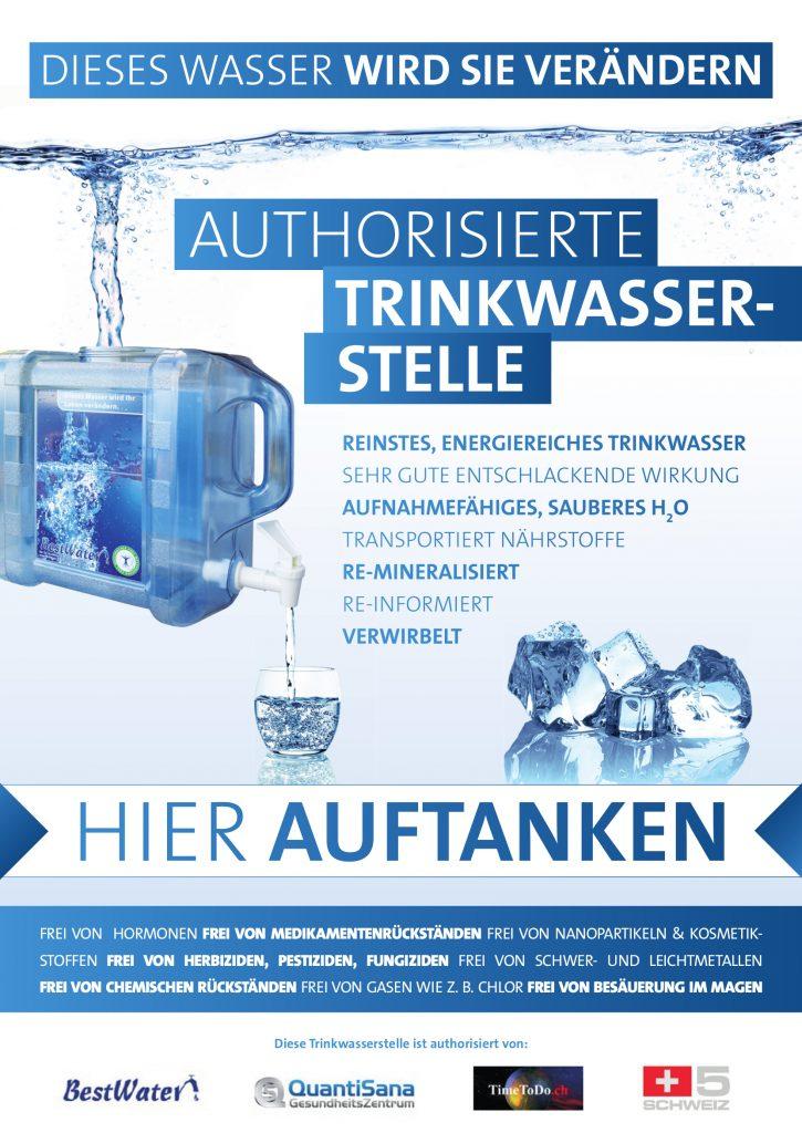 Kostenlose Wassertankstelle, Trinkwasser Tankstelle Running Center Thun bei Peter Meyer